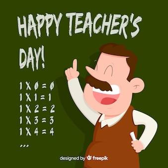 Creatieve wereld leraren dag achtergrond