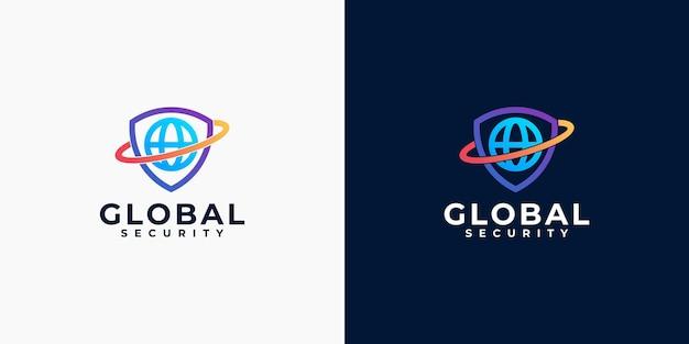 Creatieve wereldwijde inspiratie voor het ontwerpen van beveiligingslogo's