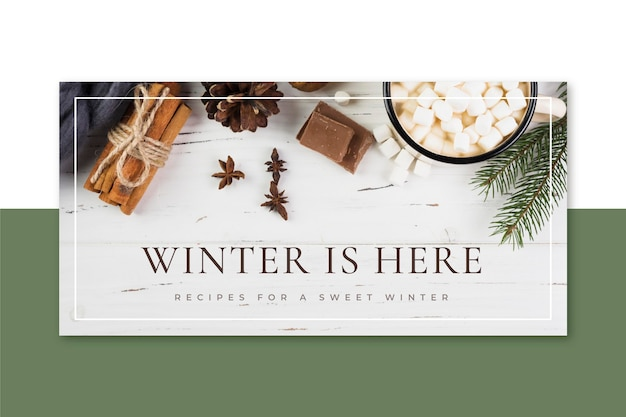 Creatieve winter blogkop