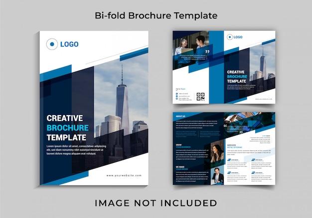 Creatieve zakelijke bi-fold brochure sjabloon