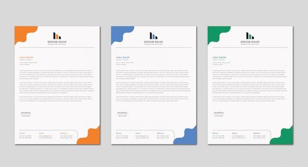 Creatieve zakelijke briefhoofd ontwerp