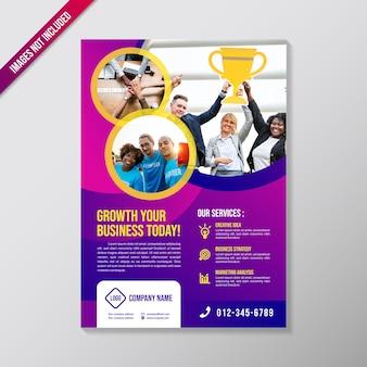Creatieve zakelijke brochure ontwerpsjabloon