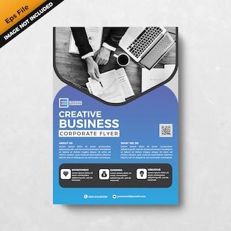 Creatieve zakelijke corporate flyer sjabloon ontwerpen