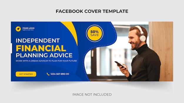 Creatieve zakelijke expert web of sociale media of facebook omslag banner sjabloonontwerp vector premium
