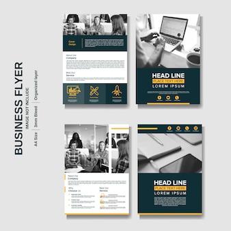 Creatieve zakelijke flyer bedrijfsachtergrond