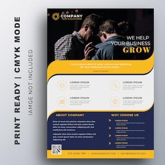 Creatieve zakelijke flyer ontwerpsjabloon