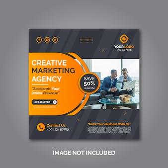 Creatieve zakelijke marketing sociale media postsjabloon