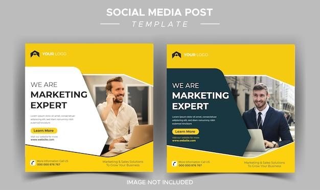 Creatieve zakelijke marketingexpert instagram postsjabloon