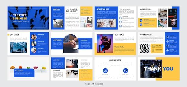 Creatieve zakelijke presentatiesjabloon. vectorillustratie eps 10