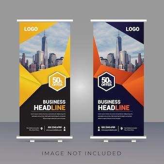 Creatieve zakelijke roll-up banner sjabloonontwerp