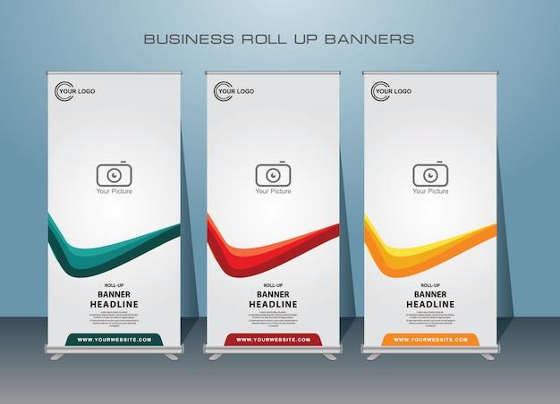 Creatieve zakelijke roll-up banner. staand bannerdesign.