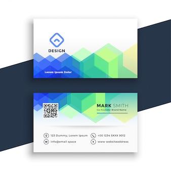 Creatieve zeshoekige visitekaartje ontwerpsjabloon