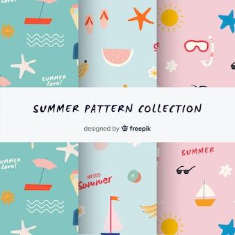 Creatieve zomerpatrooncollectio