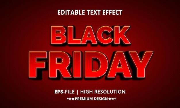 Creatieve zwarte vrijdag 3d-teksteffectstijl