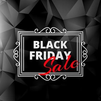 Creatieve zwarte vrijdag verkoop label