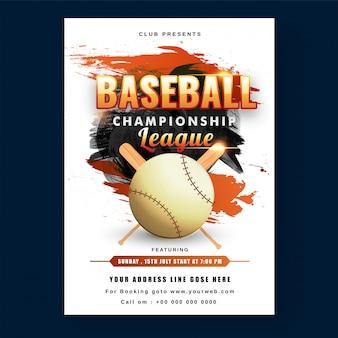 Creative baseball championship league-flyer
