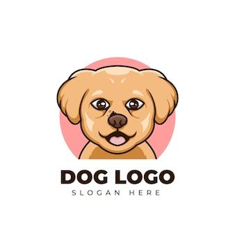 Creative cartoon dog pet shop mascotte cute animal logo design