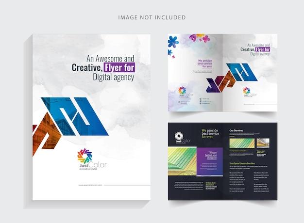 Creative clean bifold-brochure