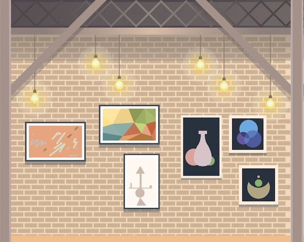 Creative coworking open space business studio