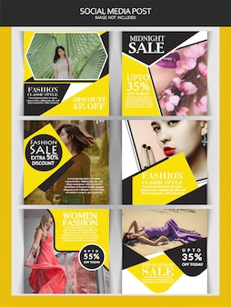 Creative discount instagram-post of bannersjabloon