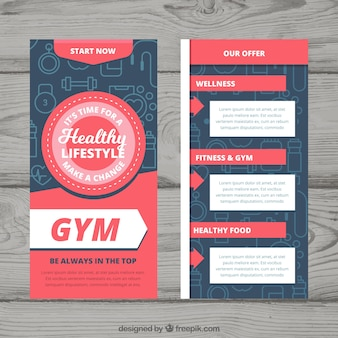 Creative gym voorbladsjabloon