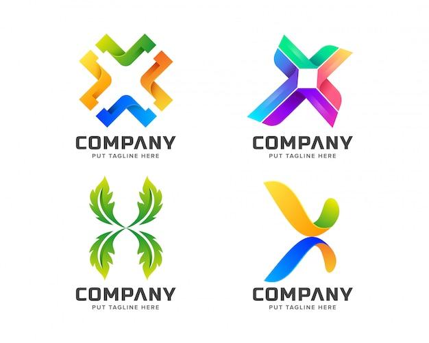 Creative letter x-logo voor bedrijf