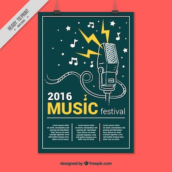 Creative muziekfestival poster