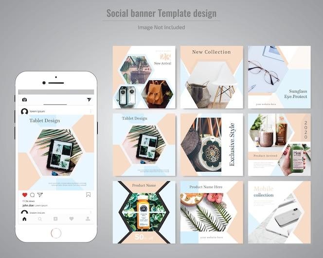 Creative product discount social media post sjabloon