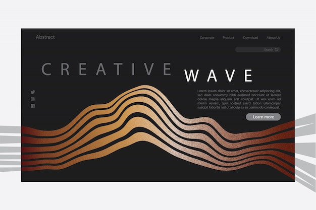 Creative wave abstract-bestemmingspagina