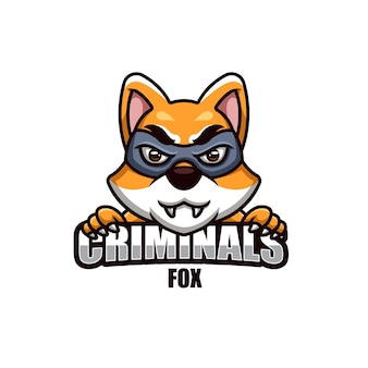 Creatives mascotte logo voor criminelen fox