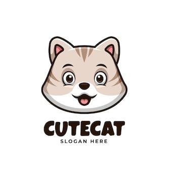 Creatives schattig kattenlogo voor huisdier