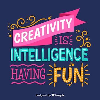 Creativiteit belettering hand getrokken ontwerp
