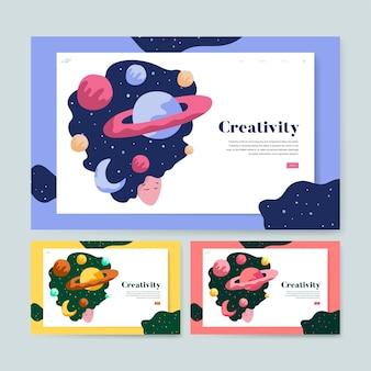 Creativiteit en grafische ruimte-website