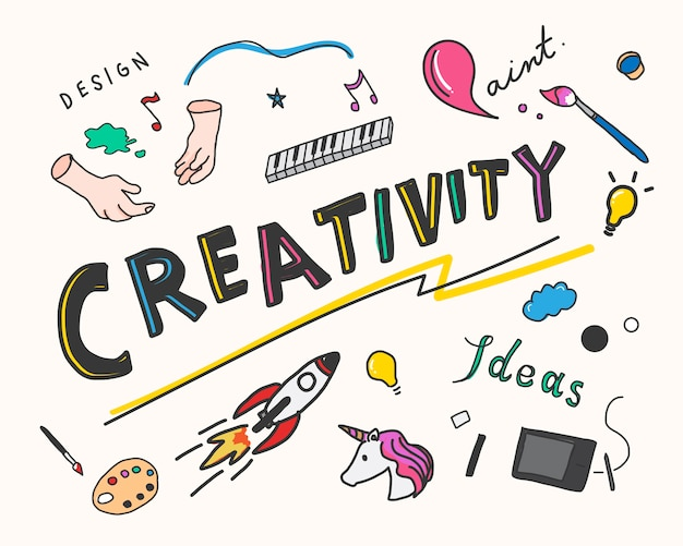 Creativiteit en innovatie concept illustratie
