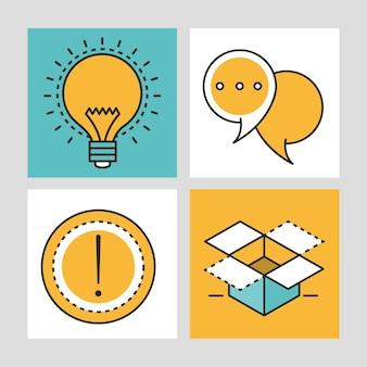 Creativiteit idee set