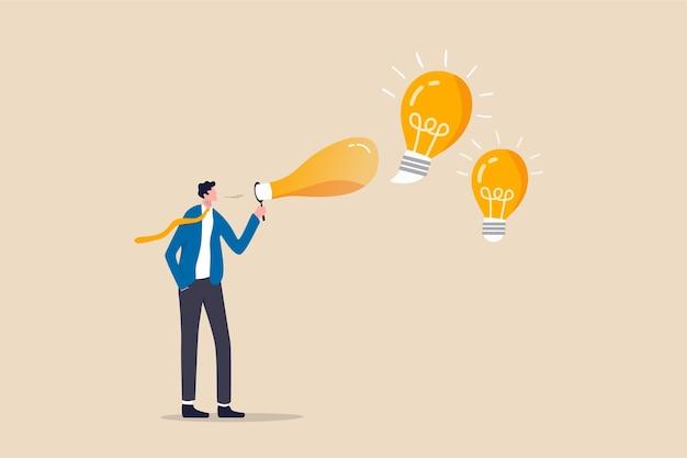 Creativiteit om een nieuw bedrijfsidee of een oplossing voor het werkprobleem te creëren