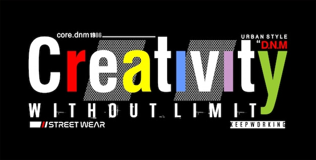 Creativiteit zonder limiet typografie