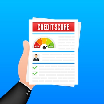 Credit score document illustratie