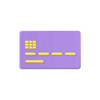Creditcard geïsoleerd op wit