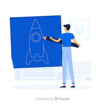 Creëer concept illustratie