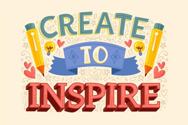 Creëer om beroemde ontwerpbelettering te inspireren