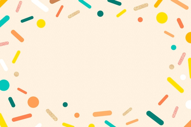 Crème hagelslag frame achtergrond, schattige pastel ijs ontwerp vector