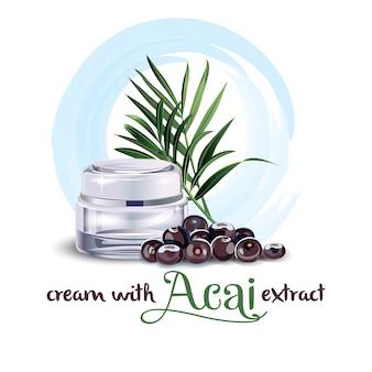 Crème met acai-extract