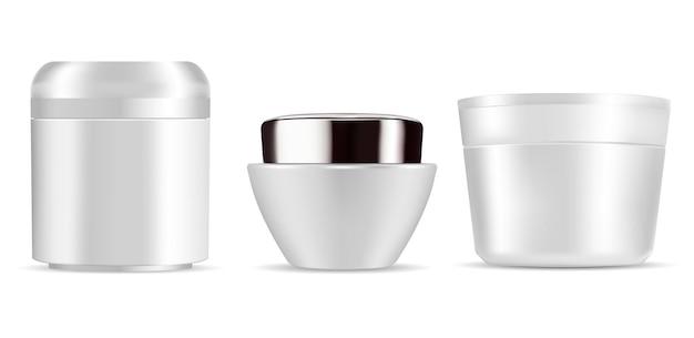 Creme-potje cosmetische container mockup creme-pakket
