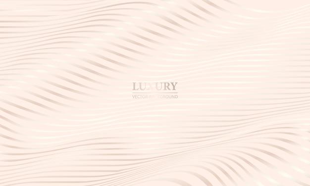 Crème schaduw elegante luxe achtergrond met witgouden golvende lijnen
