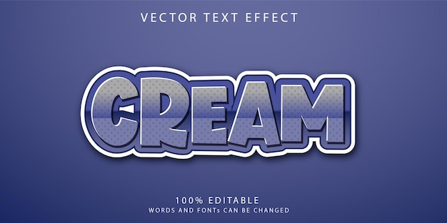 Crème teksteffecten stijlsjabloon