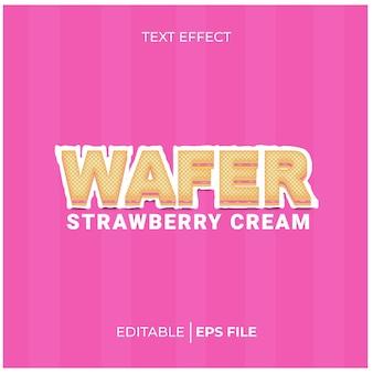Crème wafel teksteffect