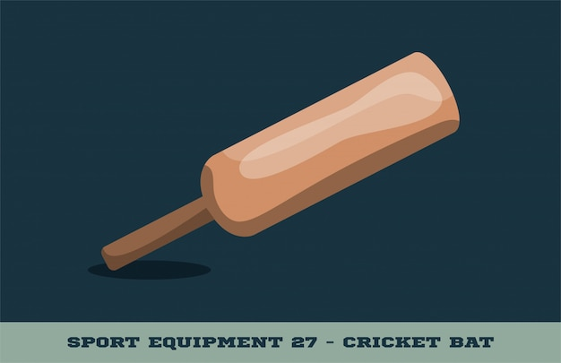 Cricket bat pictogram