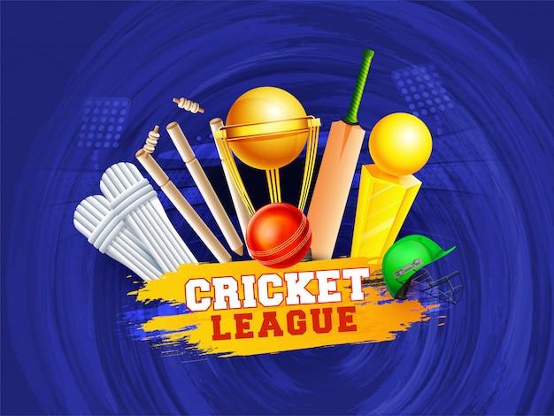 Cricket championship concept.