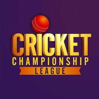 Cricket championship league achtergrond